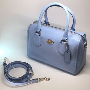 Coach light blue doctor's bag
